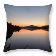 Lower Saranac Lake Throw Pillow