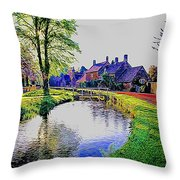 Lower Slaughter 1 Throw Pillow