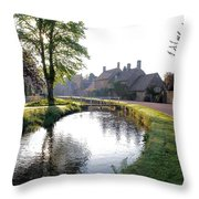 Lower Slaughter Throw Pillow