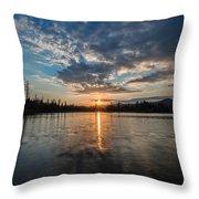 Lower Sunset Lake Throw Pillow