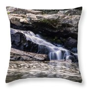 Lower Swallow Falls Stairsteps Throw Pillow