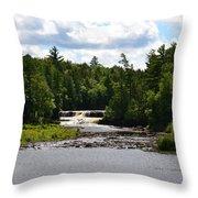 Lower Tahquamenon Falls L Throw Pillow