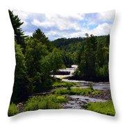 Lower Tahquamenon Falls Ll Throw Pillow