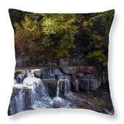 Lower Taughannock Falls Throw Pillow