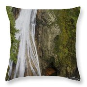 Lower Twin Falls Throw Pillow