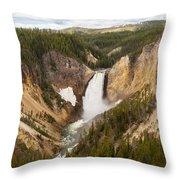 Lower Yellowstone Canyon Falls Throw Pillow