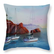 Lowered Sails Throw Pillow
