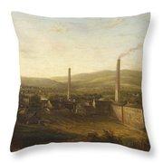 Lowerhouse Print Works, Burnley Throw Pillow