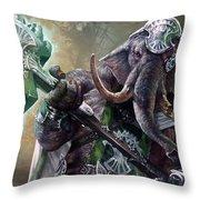 Loxodon Smiter Throw Pillow by Ryan Barger