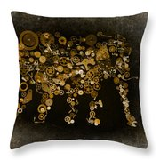 Loxodonta Throw Pillow