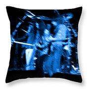 Ls Spo #67 Crop 2 In Blue Throw Pillow
