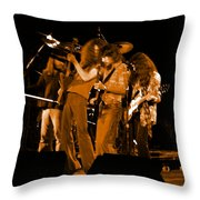 Ls Spo #68 Enhanced In Amber Throw Pillow