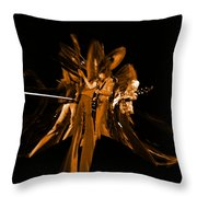 Ls Spo #68 Enhanced In Amber Squished Throw Pillow