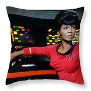 Lt Uhura Throw Pillow