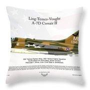 Ltv Ling Temco Vought A-7d Corsair II Throw Pillow