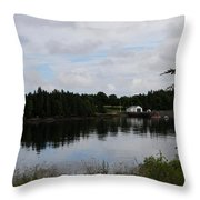 Lubec Channel Scenic View Throw Pillow
