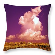 Lubriano, Italy, Infrared Photo Throw Pillow