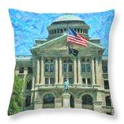 Lucas County Court House Throw Pillow