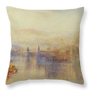 Lucerne From The Lake Throw Pillow