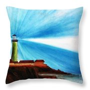 Luci Del Faro Throw Pillow