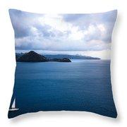 Lucian Blues Throw Pillow
