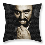 Luciano Pavarotti Throw Pillow