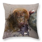 Luck Only Counts In Horseshoes And Hand Grenades Throw Pillow