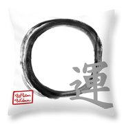 Luck - Zen Enso Throw Pillow