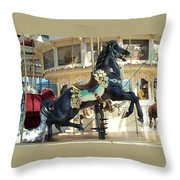 Lucky Black Pony - Syracuse Ptc No 18 Throw Pillow