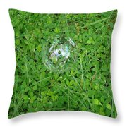 Lucky Bubble Throw Pillow