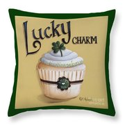 Lucky Charm Cupcake Throw Pillow