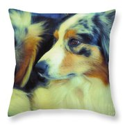 Lucky Dog's Life Throw Pillow