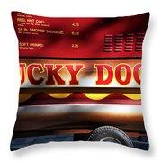 Lucky Dogs Lucky Dogs Throw Pillow by John Rizzuto