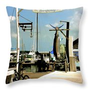 Lucky Fleet Key West  Throw Pillow