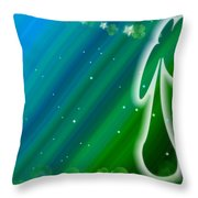 Lucky Irish Angel Kisses Throw Pillow
