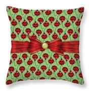 Lucky Ladybugs Throw Pillow