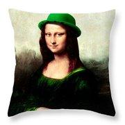 Lucky Mona Lisa Throw Pillow