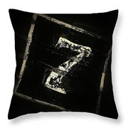 Lucky Number Seven Throw Pillow