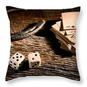 Lucky Throw Pillow by Olivier Le Queinec