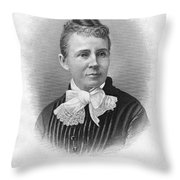 Lucretia Garfield (1832-1918) Throw Pillow