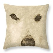 Lucy Silver Point Hp Throw Pillow
