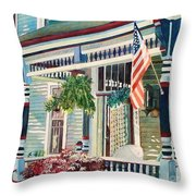 Ludington House B And B Throw Pillow