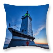 Ludington Lighthouse Throw Pillow