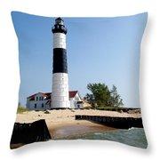 Ludington Michigan's Big Sable Lighthouse Throw Pillow