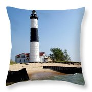 Ludington Michigan's Big Sable Lighthouse Throw Pillow