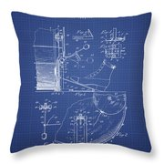 Ludwig Foot Pedal Patent From 1909 - Blueprint Throw Pillow