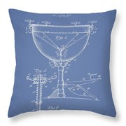 Ludwig Kettle Drum Drum Patent Drawing From 1941 - Light Blue Throw Pillow