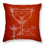 Ludwig Kettle Drum Drum Patent Drawing From 1941 - Red Throw Pillow