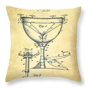 Ludwig Kettle Drum Drum Patent Drawing From 1941 - Vintage Throw Pillow