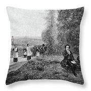 Ludwig Van Beethoven (1770-1827) Throw Pillow